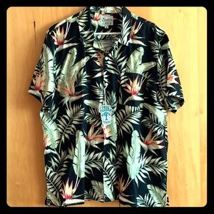 Men's Lucky Brand Hawaiian Short Sleeve Button Up